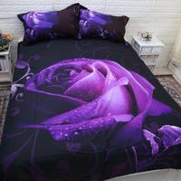 LOVINSUNSHINE Comforter Bedding Sets Bed Sheet Queen Bedding Set King Size Purple Rose Print 3d Quilt Cover AB#88