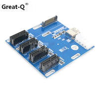 Geweldig-Q Nieuwe PCIe 1 om 4 PCI express 1X slots Riser Card Mini ITX om externe 3 PCI-e slot adapter PCIe Port Multiplier Card