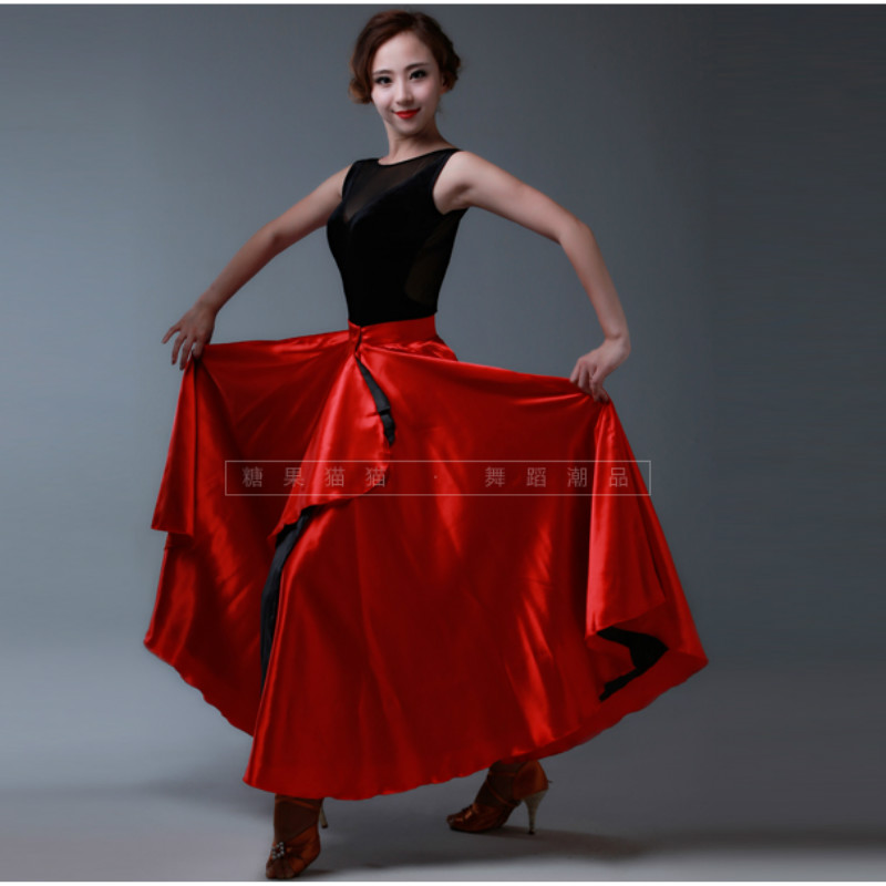 Lady Latin Dance Skirt Female New Pasodoble Dance Skirt Cape Performance Competition Wear Female Dancing Wear  B-6824