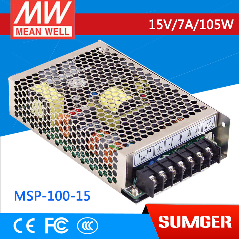 1MEAN WELL original MSP-100-15 15V 7A meanwell MSP-100 15V 105W Single Output Medical Type Power Supply 100% original mean well msp 100 36 36v 2 9a meanwell msp 100 36v 104 4w single output medical type power supply