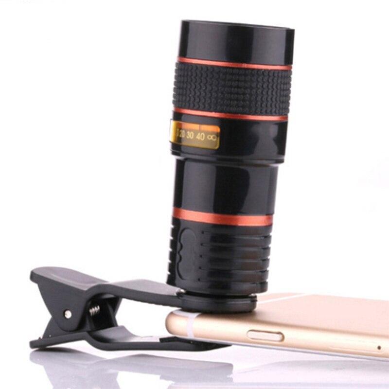imágenes para Universal 8 veces telefoto zoom len lente de teléfono móvil para largo distance de viajes para iphone 6 7 plus para samsung huawei
