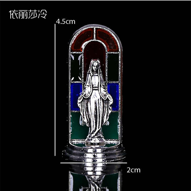 Статуя Святого Креста, католическая статуя Санта-Марии, украшения для приборной панели автомобиля,