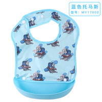 Thomas Baby Feeding Bibs Silicone Waterproof Pocket Baby Bib Adjustable Care Children Eating Smocks Cartoon Kid