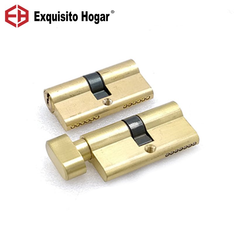 Gold Door Cylinder Biased Lock 60(30-30)mm Cylinder AB Key Anti-Theft  Entrance Brass Door Lock Lengthened Core Extended Keys