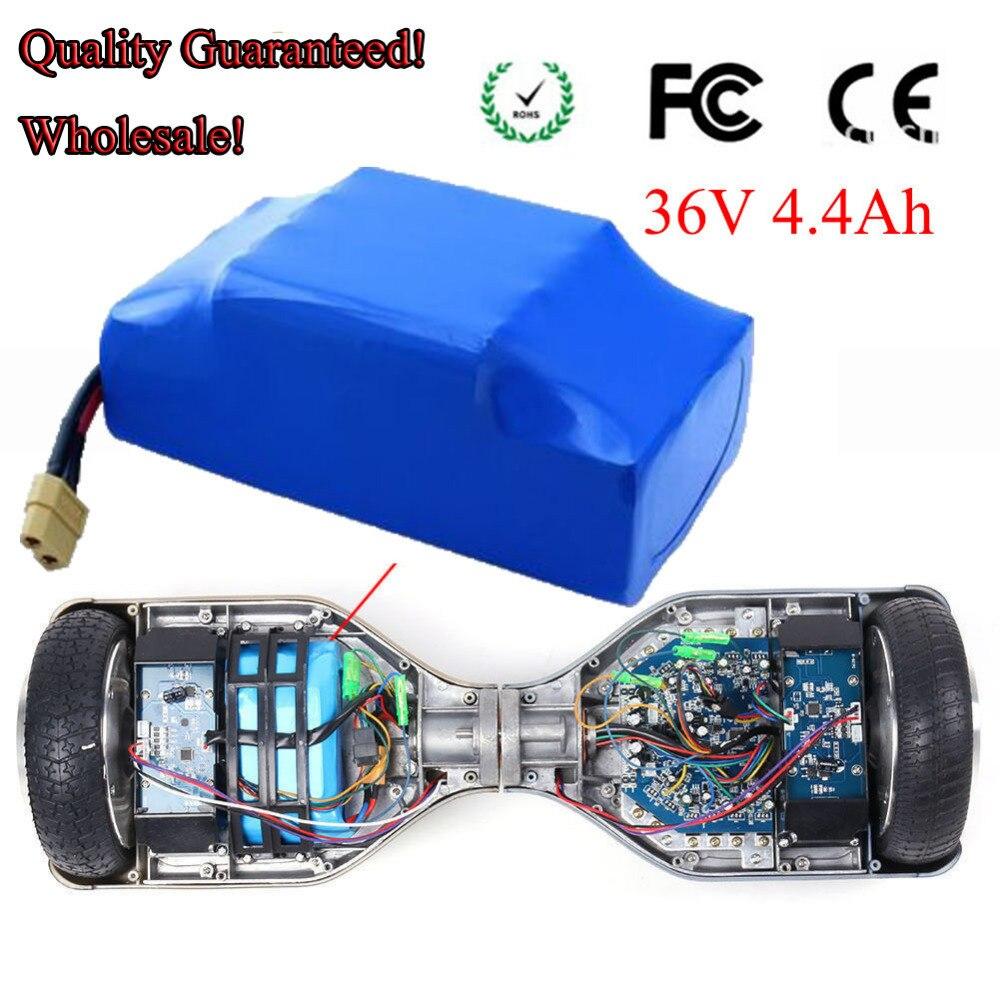 36 V 4.4Ah XT60 Plug Li-ion remplacement de batterie pour auto-équilibrage convient à 6.5