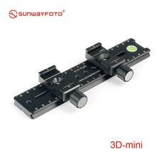 SUNWAYFOTO 3d-мини Штативная головка 3D стерео стереоскопическая двойная камера 4 шт. набор профессиональных триподных головок с горкой