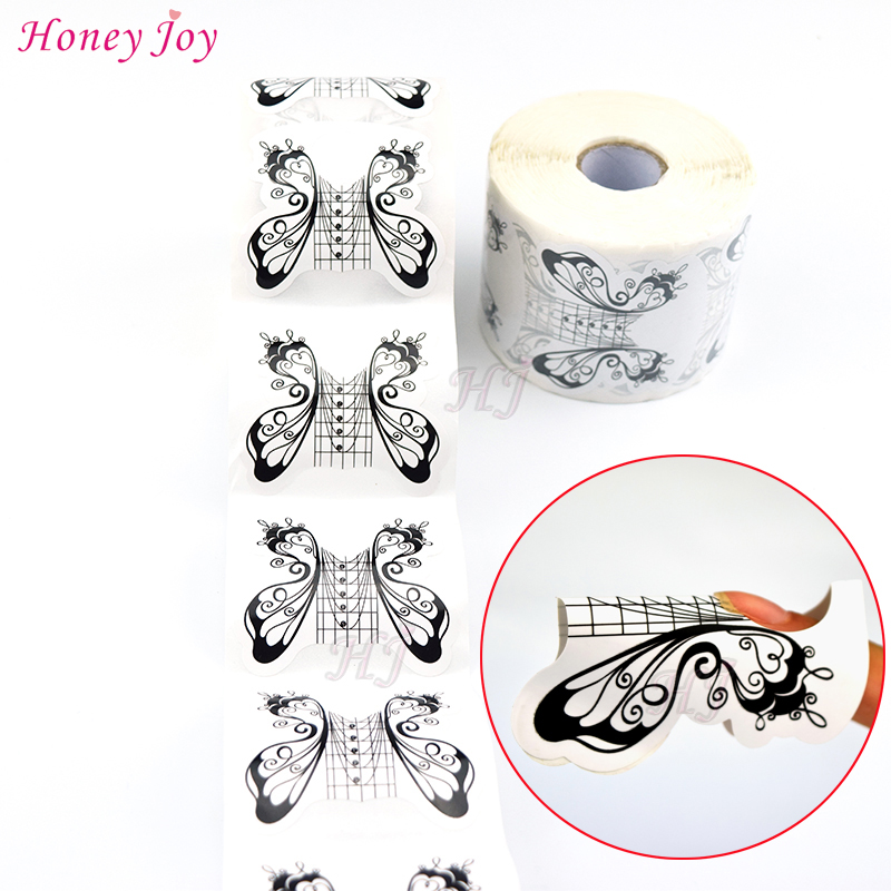Pcs roll professional butterfly nail form tips art
