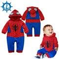 Nuevo Estilo Bebé Mameluco Ropa de Bebé Recién Nacido Lindo Spider-man Bebé Recién Nacido Ropa Bebe Ropa de La Muchacha Niños mamelucos HB014