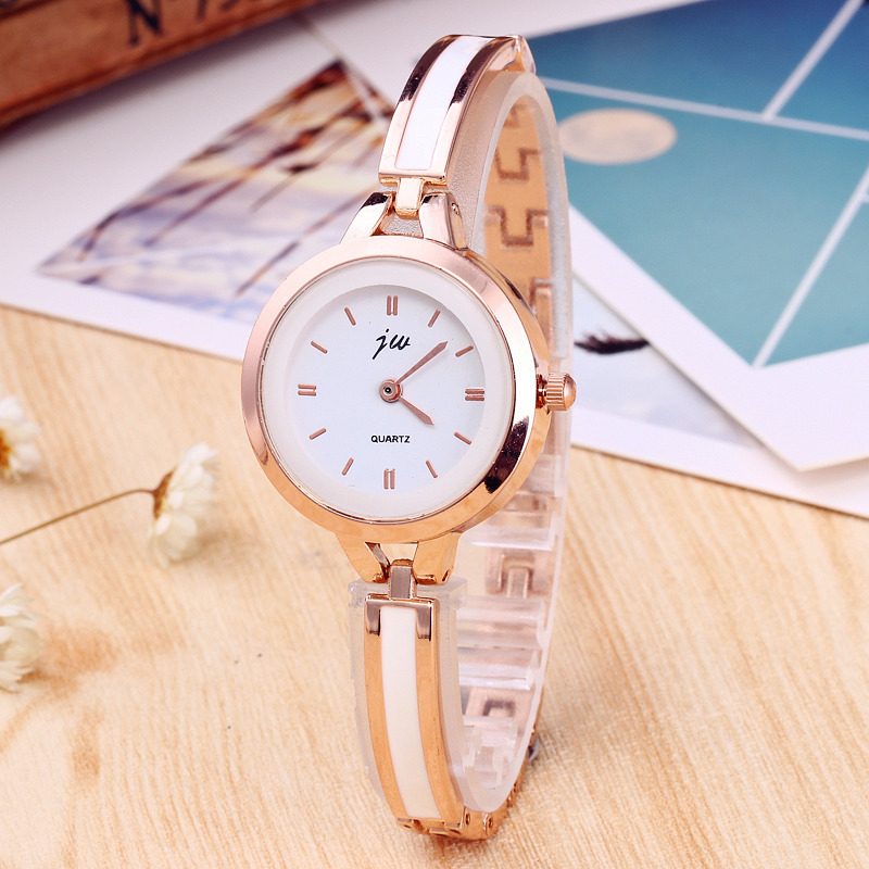 Watch Fashion Rose Gold Silver Thin Strap Watches For Women Lady Bracelet Wristwatches With Ceramic Fine Steel Strap Clock