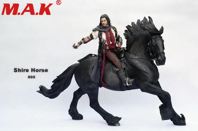 1/6 scale ancient war horse British shire horse W harness SH005 horse figure model for 12