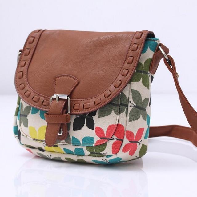 Canvas Printed Women Travel Messenger Bag Small Shoulder Bag Casual Sling Bag 3