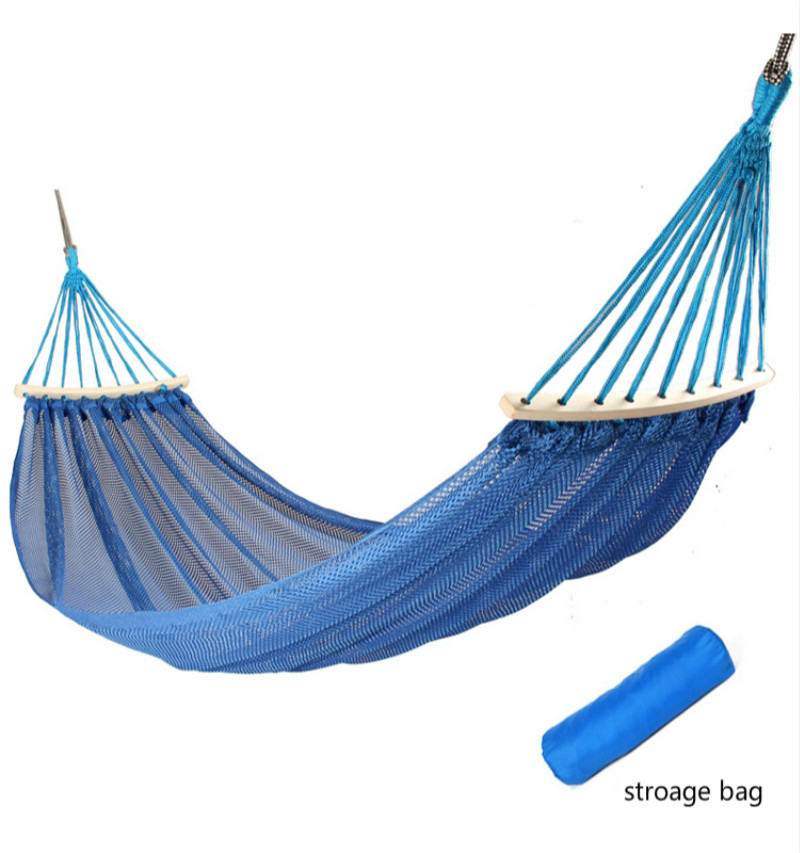 Outdoor Swing Mesh Cool Nylon Lifts Hammock Safety Breathable Adult Double Person Patio Swings Children Indoor Hammock Chair