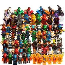 1pcs Ninja Kai Cole Jay Zane Lloyd Nya Building Blocks Figures Kids Toy Gift Compatible Legoingly