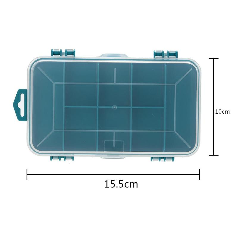 13 Grid Tool Box Double-Side Plastic Tool Box Screw Jewelry Component Storage Tool Multifunction Tool Case For Small Components