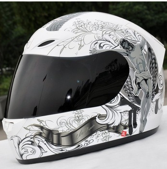 ФОТО Free shipping Tanked racing T112 Full Face helmet Scooter helmet Giving winter collar (color White Jesus)