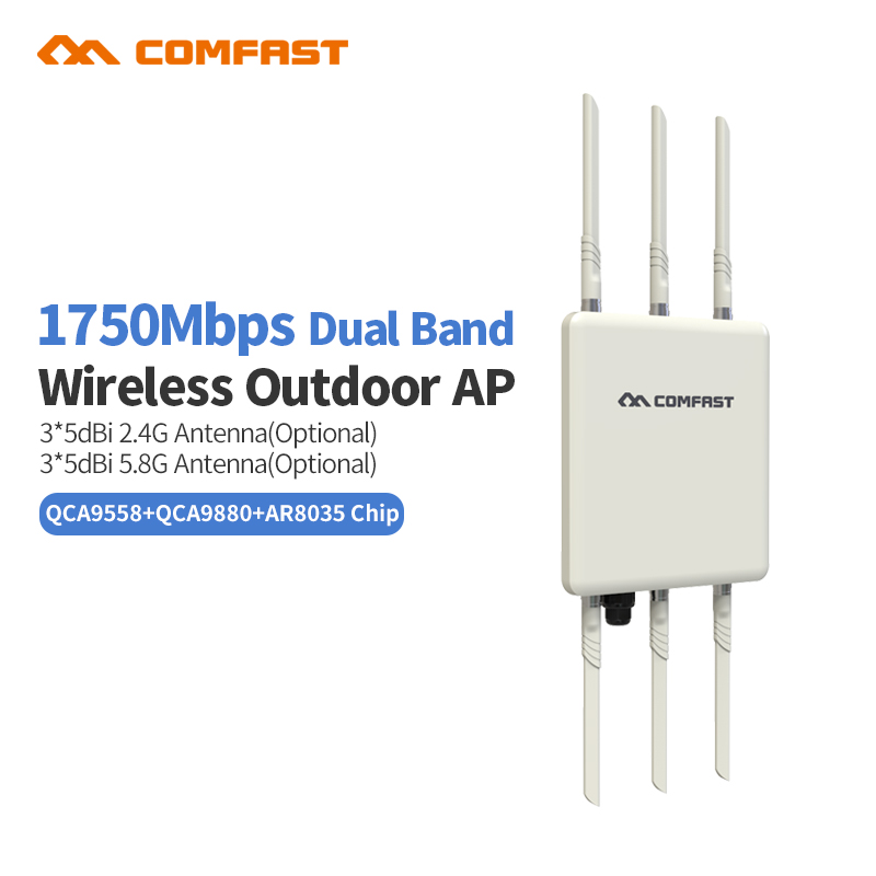 New Comfast WA900 1750M Dual Band 2.4+5.8g Wireless AP Wifi bridge 6*5Dbi Antenna outdoor Long range WI FI Access Point router new tp link wdr7400 1750mbps 11ac 6 antenna fast wifi extender wireless dual band router for home computer networking
