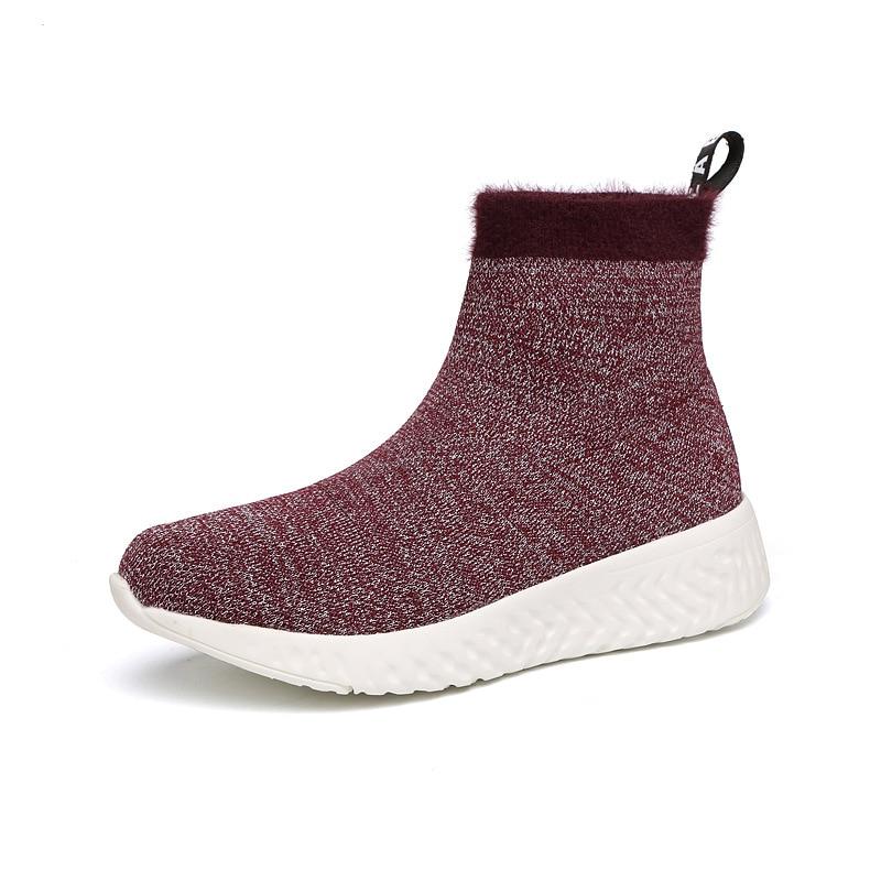 Caoutchouc Solide Chaussures Slip Talon D'hiver Troupeau fsj02 Fsj01 Plate Pour Femmes Fsj forme Faible Bout on Cheville En Mélangées Bootsladies Couleurs Japonais Rond 7dzHdqw