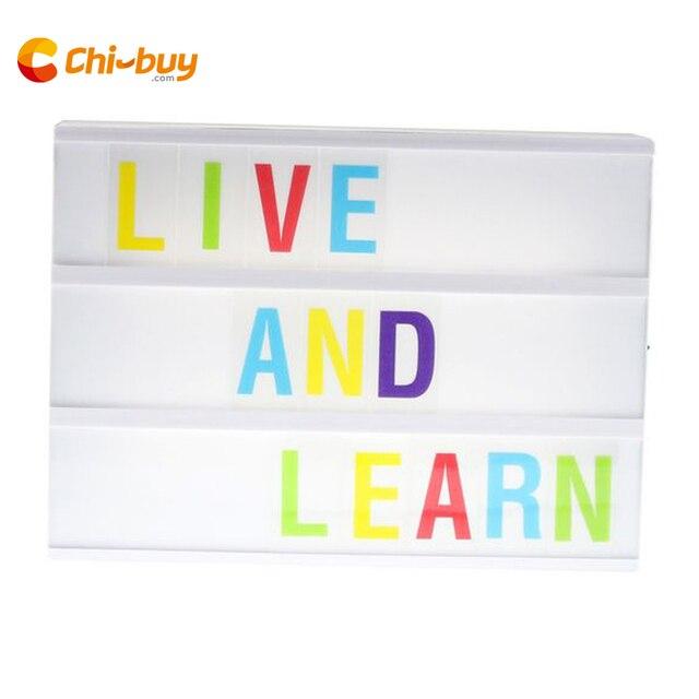 Chibuy A4 tamaño 3 línea batería cine caja de luz, plástico LED cinematográfica con 170 letras y números