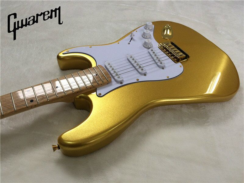 E-Gitarre / Gwarem neue Gitarre Goldfarbe / Gitarre in - Musikinstrumente - Foto 4