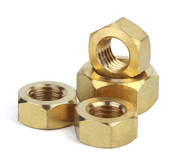 M2 M2 5 M3 M4 M5 M6 M20 Brass Nuts Copper Hexagonal Nut Brass Hex Nut