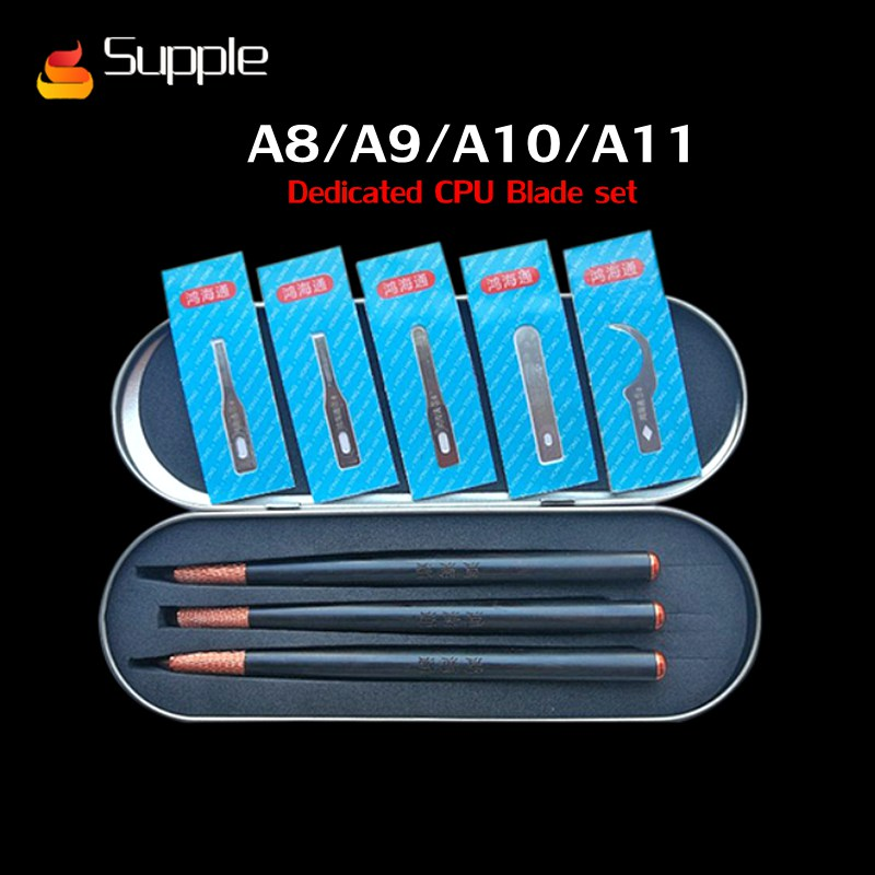 Supple Newest A8 A9 A10 A11 CPU IC removal glue knife Blade pry knife set Mobile phone motherboard maintenance Disassemble toolSupple Newest A8 A9 A10 A11 CPU IC removal glue knife Blade pry knife set Mobile phone motherboard maintenance Disassemble tool