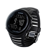 SUNROAD Men Watches Digital Wacth Altimeter Thermometer Weather Forecast Stopwatch Smart Running Sports  Clock Reloj Hombre sunroad fishing barometer watch fr720a men altimeter thermometer weather forecast 50m waterproof stopwatch smart watch black
