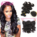 Malaysian Body Wave With Closure Full Lace Frontal Closure With Bundles 7A Hanne Human Hair Body Wave With Bundles and Closure