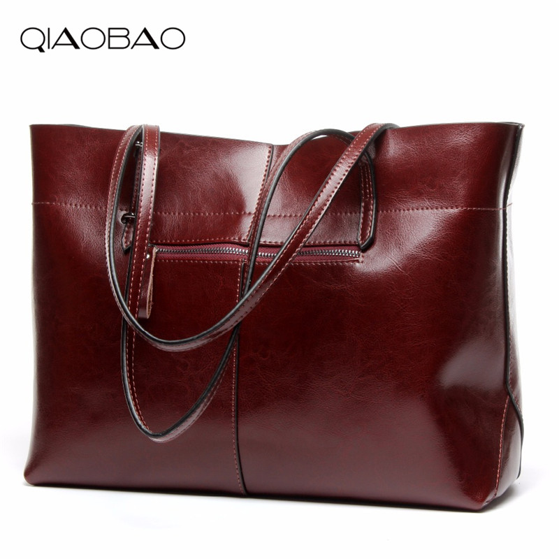 QIAOBAO Wholesale Women Messenger Bags Designer 100% Genuine Leather Handbag Brand Cowhide Large Tote Bag qiaobao 100% genuine leather women s messenger bags first layer of cowhide crossbody bags female designer shoulder tote bag