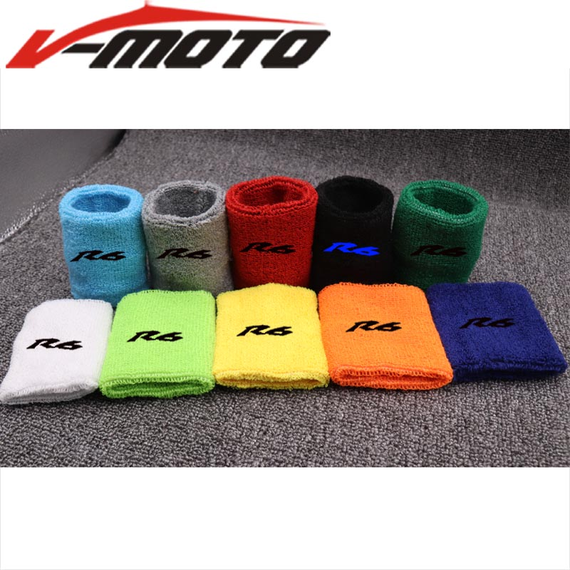 Motorcycle Front Fluid Oil Brake Reservoir Tank Cover Sock Socks For Yamaha YZF-R1 YZF-R6 YZF R1 R6 All Years Universal