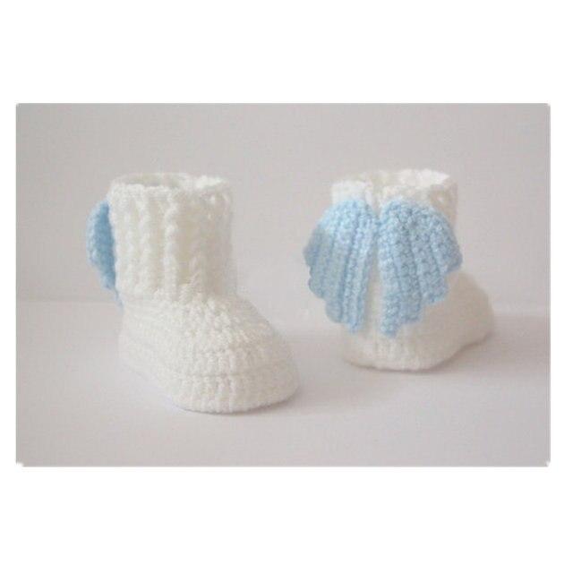 Tienda Online El envío libre, ganchillo botines del bebé, zapatos de ...