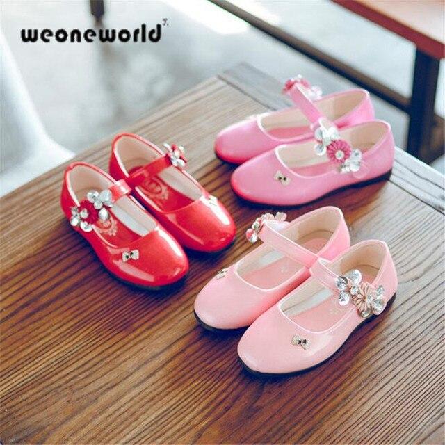 Leather shoes rojo 2017 niños del verano de princesa niñas zapatos ...