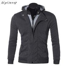 Männer Hoodies 2016 Herbst Winter Mode Lässig Langarm Schal Outwear Reißverschluss Design Pullover Mantel Männer Hohe Qualität November 29