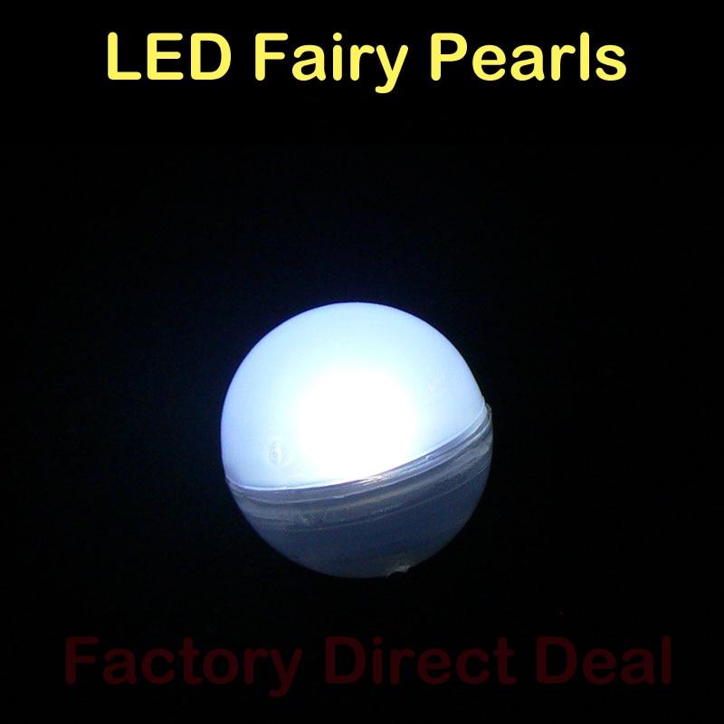 48pcs Fairy Lights Flashing Ball Waterproof  Fairy Pearls Floating Pool Lights Wedding Party Decor Festival Home Garden Lights