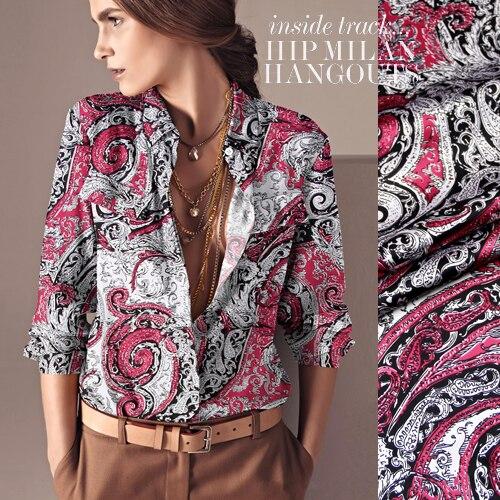 118 cm large 93% encaisseurs de soie et 7% spandex 19 mm rose impression  élastique de mûrier satin de soie chemise de vêtements matériau en tissu 60f60701f32