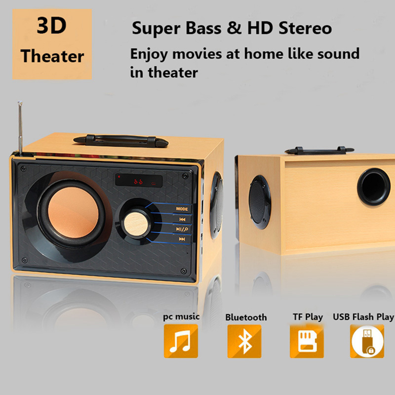 Portable Audio & Headphones Portable 15w Multifunctional Wireless Bluetooth Subwoofer Stereo 3d Speaker G~ Audio Docks & Mini Speakers