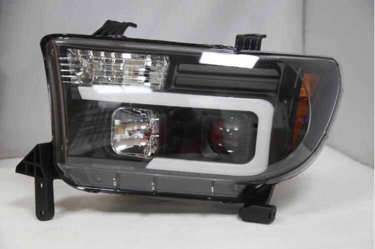 2 pièces de Voiture pour Toyota Tundra Phares 2007 ~ 2013/2014 ~ 2018 année Clignotant LED Tête lampe DRL Au Xénon Hid lentille Automatique