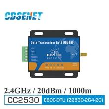 цена на Zigbee CC2530 Module RS485 240MHz 20dBm Mesh Network CDSENET E800-DTU(Z2530-2G4-20) Ad Hoc Network 2.4GHz Zigbee rf Transceiver