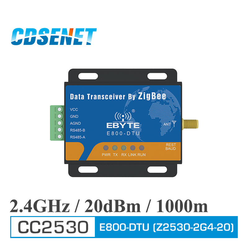 Zigbee CC2530 Module RS485 240MHz 20dBm Mesh Network CDSENET E800-DTU (Z2530-485-20) Ad Hoc Network 2.4GHz Zigbee Rf Transceiver