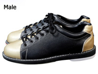 High quality unisex bowling shoes men women bowling sneakers genuine leather breathable non skid Sole Professional bowling shoes