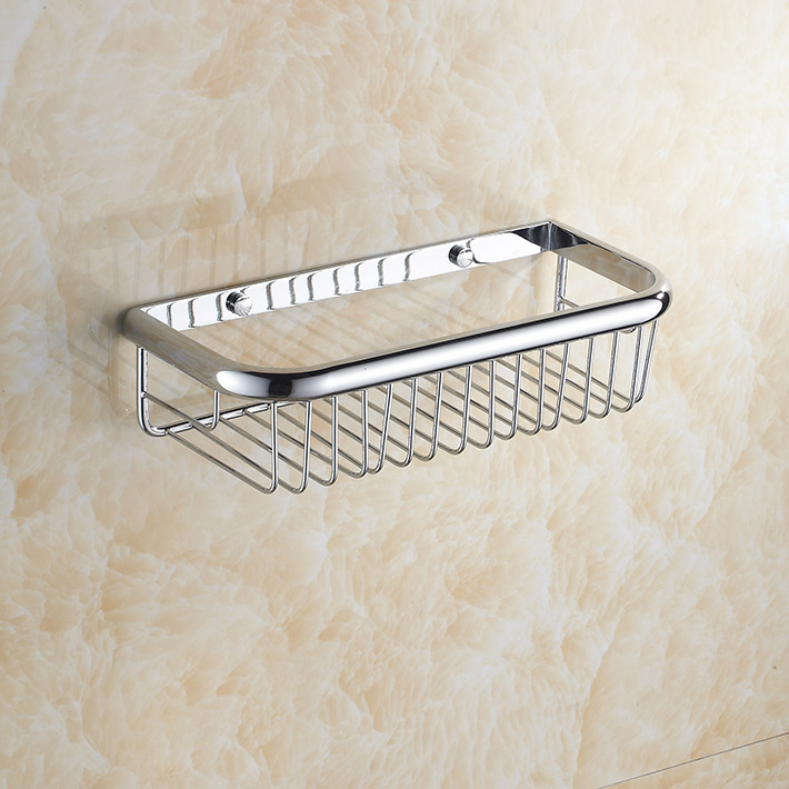 Newly US chrome Shower Caddy Basket Bathroom Commodity Shelf Brass ...
