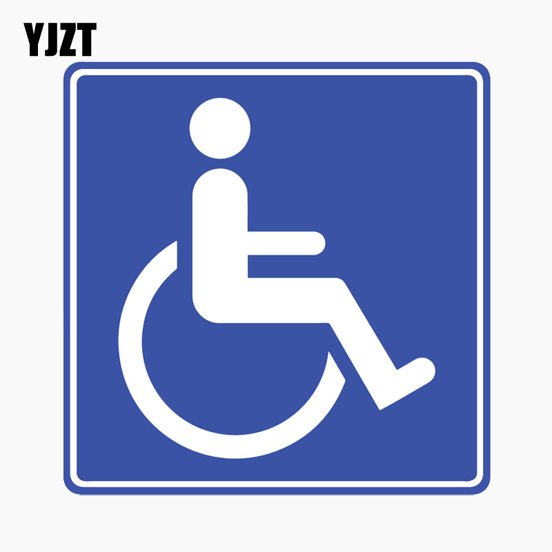 YJZT 11.7CM*11.9CM Sign Disability Disabled Reflective Personality Decal Car Sticker C1-7746