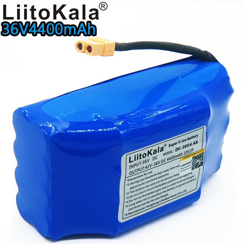 Liitokala 36v 4.4ah lithium battery 10s2p 36v battery 4400mAh lithium ion pack 42V 4400mah scooter twist car battery