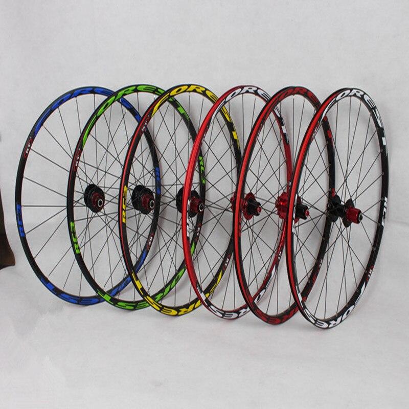 2 MEROCA Mountain Bike Bicicleta frente traseira 4 selado rolamento de rodas de liga de alumínio aro