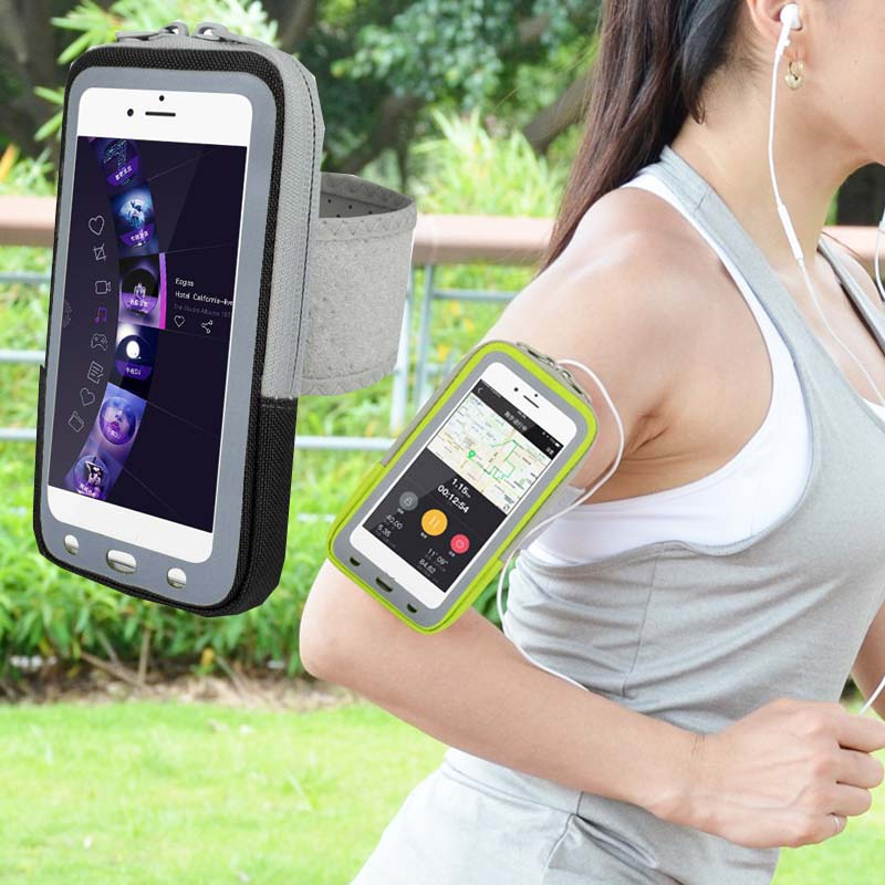 Sport Gym armband Case Zippered Fitness Multifunction pocket Bag Pouch Waterproof Running Cover for Mobile Phone Smartphone