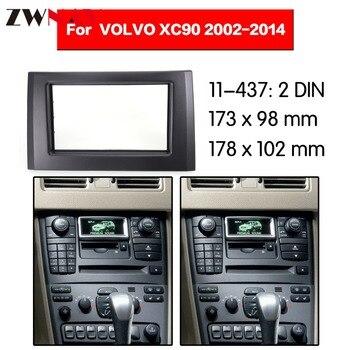 Quadro de carro DVD Player Para 2002-2014 VOLVO XC90 2DIN Auto Rádio Multimídia NAVI fáscia