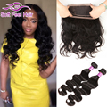 7A Brazilian Virgin Hair Body Wave With Frontal Closure 360 Lace Frontal Closure With Bundles Human Hair With 360 Frontal Band