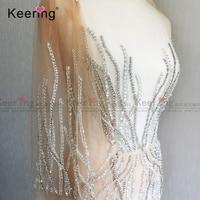Модное Вечернее платье Большой размер Ручной Работы Стразы патчи WDP-035