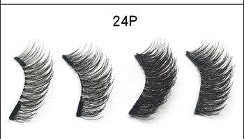 ROMANTIC BEAR 3D Dual Magnetic Fake Eyelashes Hand-made Natural Long 2 Magnets False Lashes Makeup 120pairs/lot DHL ML004