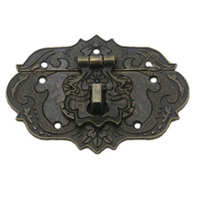 Деревянный Чехол кармашек Toolbox 77 мм х 57 мм застежка Защёлки бронзовый тон