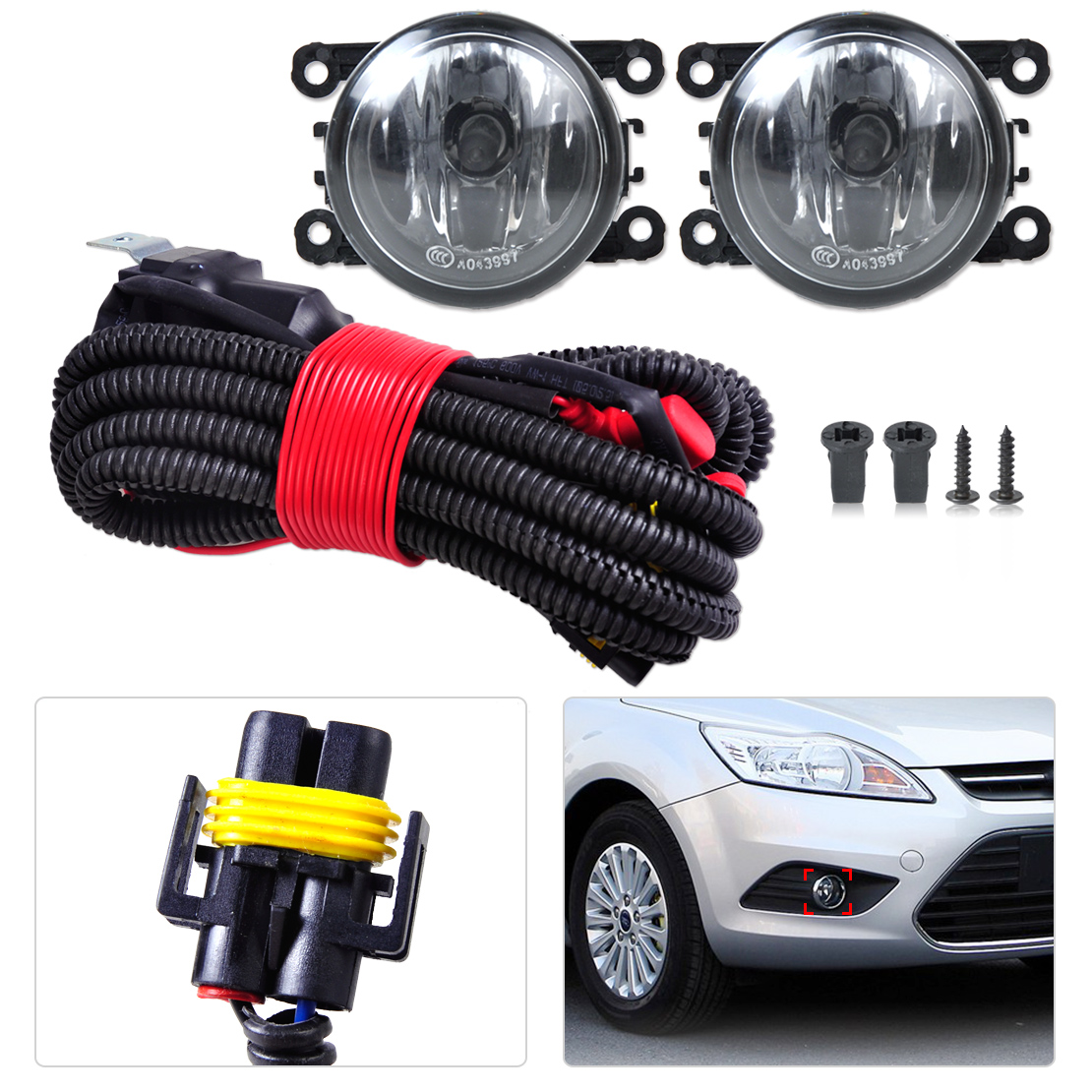 online get cheap honda harness connectors aliexpress com H11 Wiring Harness 1 set new h11 wiring harness sockets wire connector 2 fog lights lamp for ford h11 wiring harness